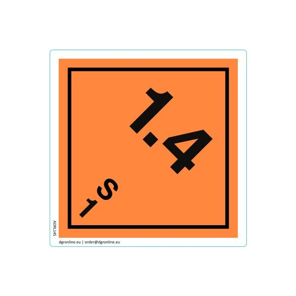 Veszélyes áru bárca No. 1.4S