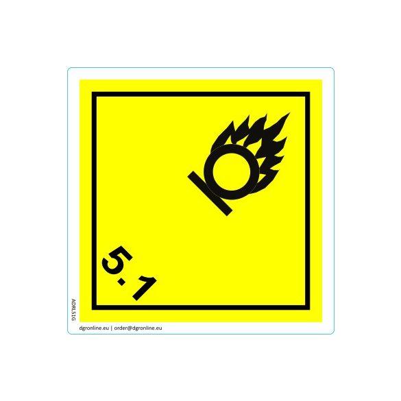 Veszélyes áru bárca No. 5.1