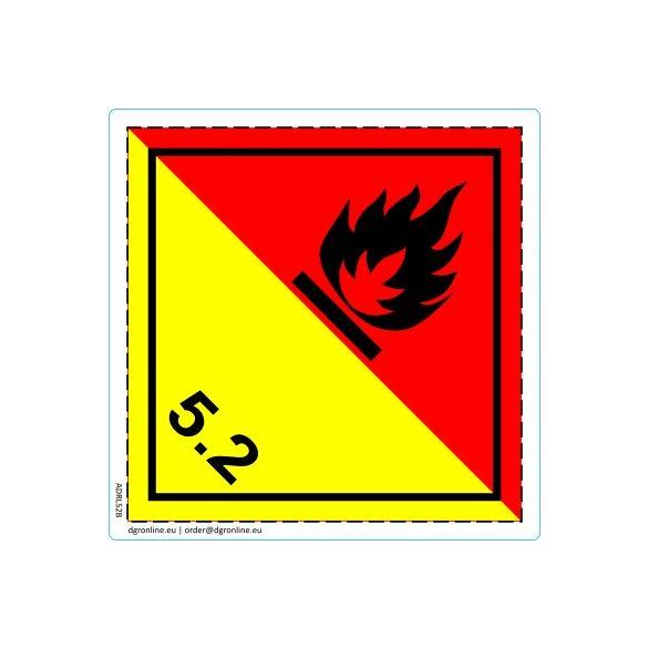 Veszélyes áru bárca No. 5.2
