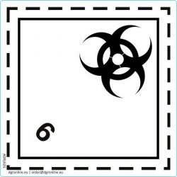 Veszélyes áru bárca No. 6.2