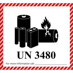 Veszélyes áru jelölés lítium-ion akkumulátorokhoz