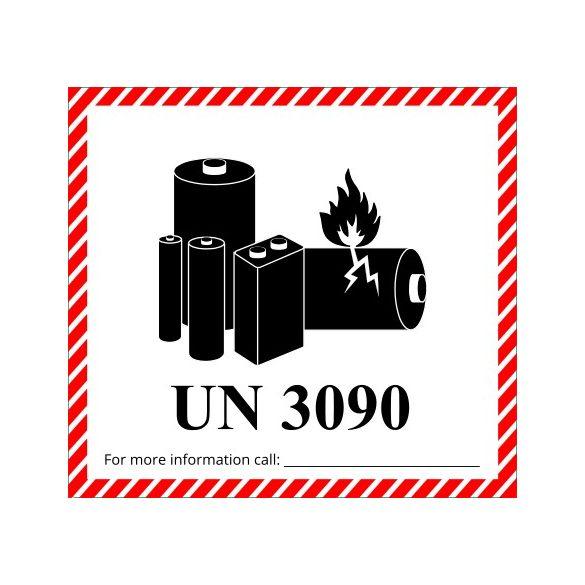 Veszélyes áru jelölés fém lítium akkumulátorokhoz